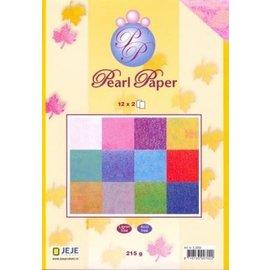 Karten und Scrapbooking Papier, Papier blöcke A5 Papirblok, Perlepapir, 12x2, 215g