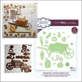 CREATIVE EXPRESSIONS und COUTURE CREATIONS modello di taglio e rilievo: carrello da giardino in legno