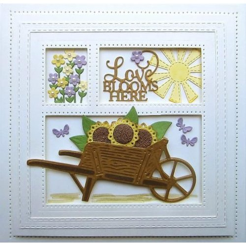 CREATIVE EXPRESSIONS und COUTURE CREATIONS cutting and emboss template: Wooden Garden Cart