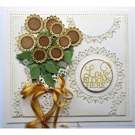 CREATIVE EXPRESSIONS und COUTURE CREATIONS cutting and emboss template: Sunflower Bouquet