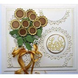 CREATIVE EXPRESSIONS und COUTURE CREATIONS modello di taglio e rilievo: Mazzo di fiori di girasole
