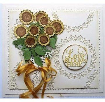 CREATIVE EXPRESSIONS und COUTURE CREATIONS découpe et gaufrage modèle: Bouquet de tournesol