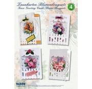 BASTELSETS / CRAFT KITS Bastelset, Zaunkarten Blumenbouquets