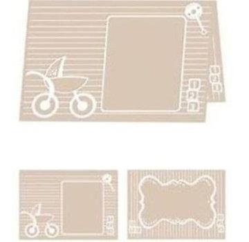 embossing Präge Folder Cartella Goffratura A4: Baby