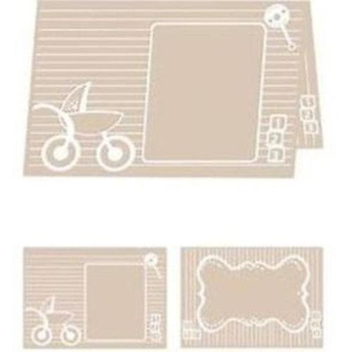 embossing Präge Folder A4 Prägefolder:  Baby