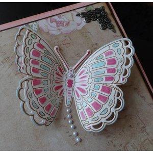 Marianne Design Marianne Design, ponsen en embossing stencil + stempel: vlinders
