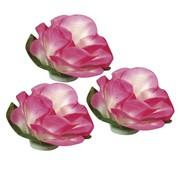 BLUMEN (MINI) UND ACCESOIRES Papier Blüten, 15mm ø  ,  15 Stück, pink
