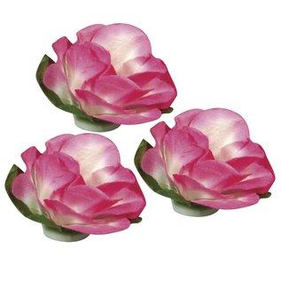 BLUMEN (MINI) UND ACCESOIRES Papieren bloemen, 15 mm ø, 15 stuks, roze