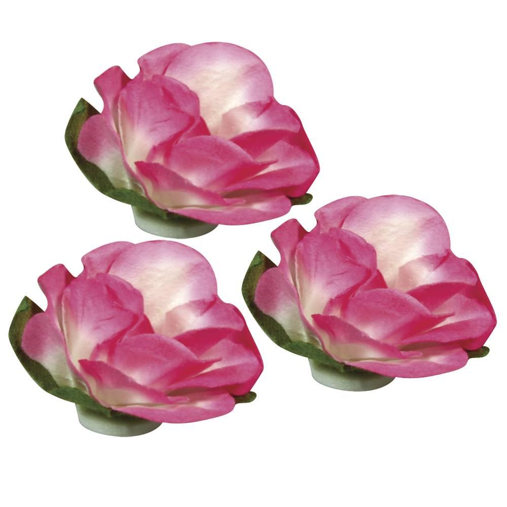 Papier Blüten 15mm ø 15 Stück Pink