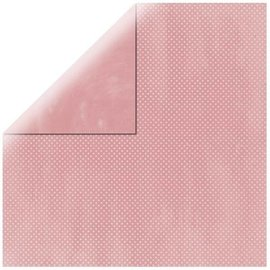 Karten und Scrapbooking Papier, Papier blöcke Carta da scrapbooking Double Dot rosa baby
