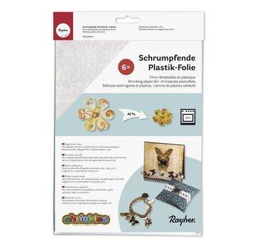 BANDEROLEN, Schrumpffolien 6 sheets shrinking plastic wrap white