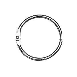 BASTELZUBEHÖR, WERKZEUG UND AUFBEWAHRUNG 5 anelli di metallo da aprire, 25 mm ø all'interno