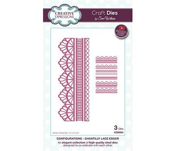 CREATIVE EXPRESSIONS und COUTURE CREATIONS Snij en emboss mal / Sjabloon: bordure, Chantilly Lace Edger