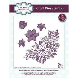 CREATIVE EXPRESSIONS und COUTURE CREATIONS Stanzschablonen: Blumen Ecke - LETZTE Verfügbar!