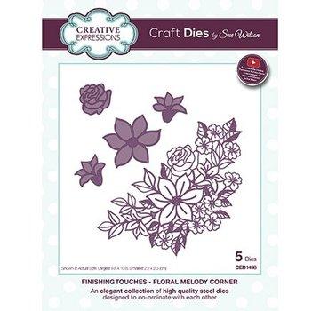 CREATIVE EXPRESSIONS und COUTURE CREATIONS modello di taglio e rilievo: Flower Corner