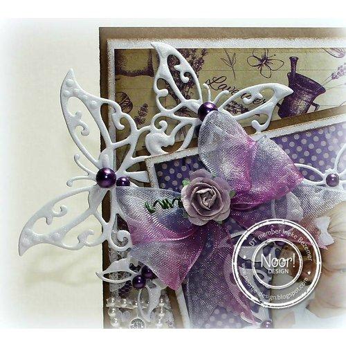 Joy!Crafts / Jeanine´s Art, Hobby Solutions Dies /  Joy!Crafts, Snij  en embossing sjabloon:  vlinder Hoek