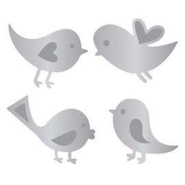 Joy!Crafts / Jeanine´s Art, Hobby Solutions Dies /  Joy! Crafts, coupe et gaufrage template: 4 oiseaux