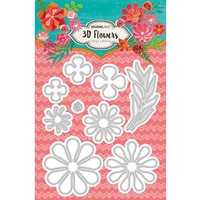 Studio Light, Cutting and embossing Template: 3D Flowers