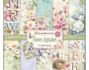 Scrapbooking en kaartdocument: bloem alfabet