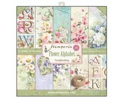 Scrapbooking y papel de cartas: alfabeto de flores