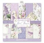 Scrapbooking e carta di carta: fiori lilla