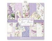 Papel de tarjetas y Scrapbooking: Lila Flowers