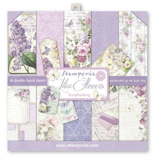 Scrapbooking und Kartenpapier: Lilac Flowers