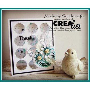 CREATIVE EXPRESSIONS und COUTURE CREATIONS Stanzschablone, 3 cirkels mit Stitchlinien