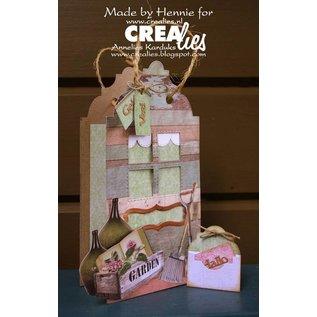 CREATIVE EXPRESSIONS und COUTURE CREATIONS snij en emboss mal / Sjabloon:  4 vierkantjes met stiklijnen