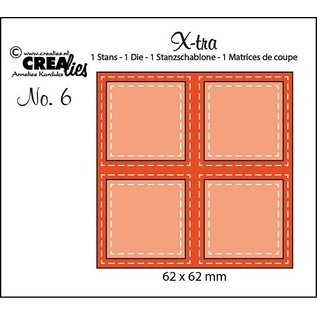 CREATIVE EXPRESSIONS und COUTURE CREATIONS Cutting and embossing Template: 4 Rectancles with stitchlines