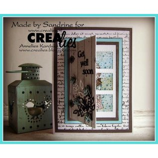 CREATIVE EXPRESSIONS und COUTURE CREATIONS Cutting and embossing Template: 3 Rectancles with stitchlines
