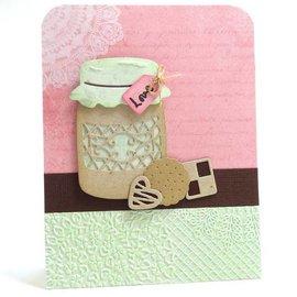 Crafter's Companion Corte y estampado de plantilla: Partido de té de la vendimia, hecha con amor