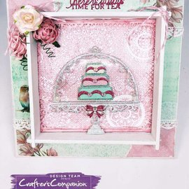Crafter's Companion Cutting en embossing sjabloon: Vintage Tea Party, zoete