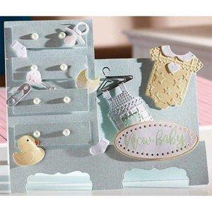 Crealies und CraftEmotions Stansning skabelon: Baby tøj