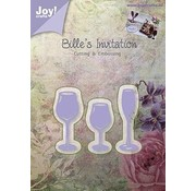 Joy!Crafts / Jeanine´s Art, Hobby Solutions Dies /  Joy!Crafts, cutting and embossing template: 3 drinking glasses