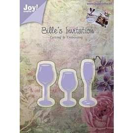 Joy!Crafts / Jeanine´s Art, Hobby Solutions Dies /  Joy!Crafts, Snij  en embossing sjabloon:  drinkglas