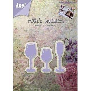 Joy!Crafts / Jeanine´s Art, Hobby Solutions Dies /  Joy!Crafts, Snij  en embossing sjabloon:  drinkglas
