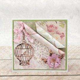 CREATIVE EXPRESSIONS und COUTURE CREATIONS Glæde! Håndværk, skæring og prægning skabelon: fugl bur