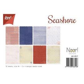 "Joy!Crafts / Jeanine´s Art, Hobby Solutions Dies /  Set di carta A4, ""Seashore"""