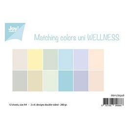 Joy!Crafts / Jeanine´s Art, Hobby Solutions Dies /  Papir sæt A4, Matchende farver uni