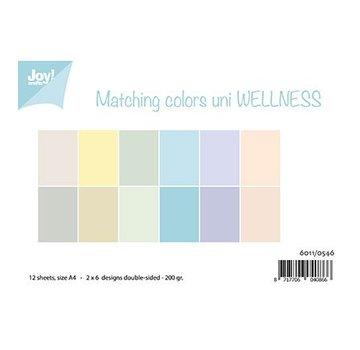 Joy!Crafts / Jeanine´s Art, Hobby Solutions Dies /  Paper set A4, Matching colors uni