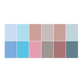 Joy!Crafts / Jeanine´s Art, Hobby Solutions Dies /  Papierset A4, bijpassende kleuren uni