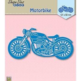 Nellie Snellen snij en emboss mal / Sjabloon: Motorbike