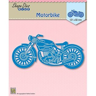 Nellie Snellen Cutting and embossing Template: Motorbike