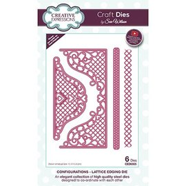 CREATIVE EXPRESSIONS und COUTURE CREATIONS Joy! Crafts, coupe et gaufrage modèle: Lattice Envelope Edger