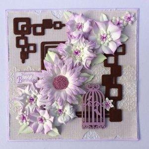 Leane Creatief - Lea'bilities und By Lene Snij-en embossing Sjablonen / Mallen bloemen