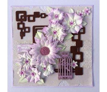Leane Creatief - Lea'bilities und By Lene Stanz- und Prägenschablone, 3D Blumen