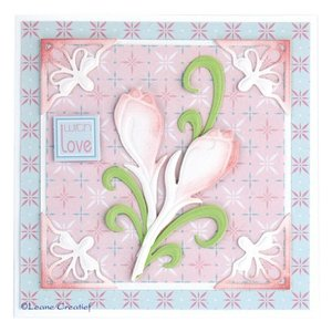 CREATIVE EXPRESSIONS und COUTURE CREATIONS Joy!Crafts, Snij  en embossing sjabloon:  3D Bloemen