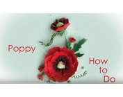 Leane Creatief Flower Foam: 3D Poppy