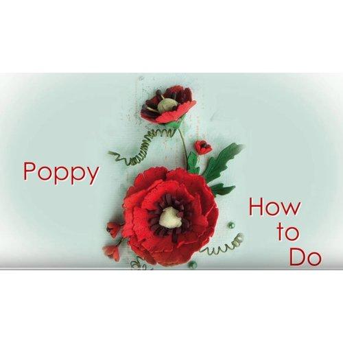 Leane Creatief Flower Foam: 3D Poppy